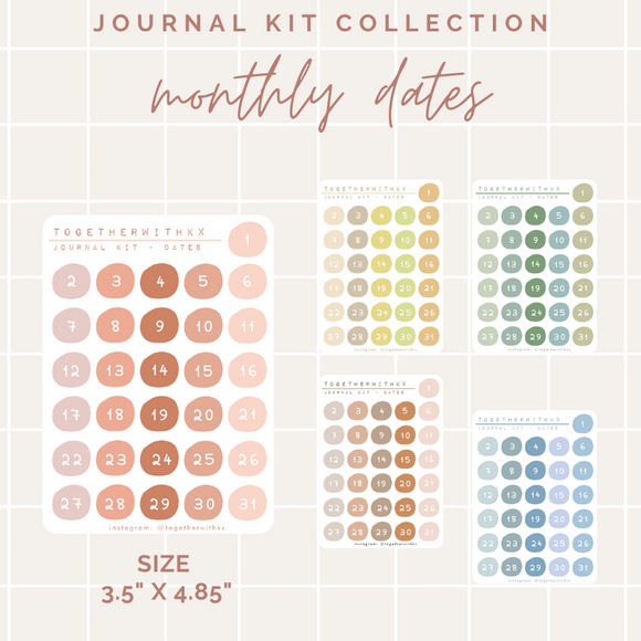 Monthly Date - Journal Kit