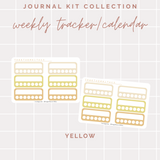 Weekly Trackers/Calendars - Journal Kit