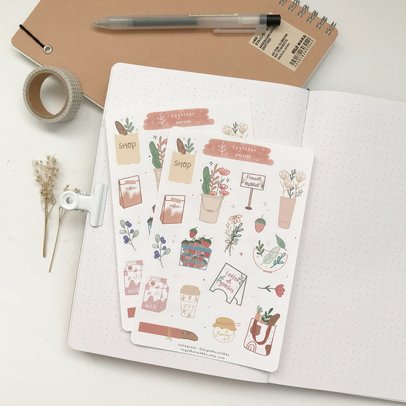 Farmers Market Sticker Sheet