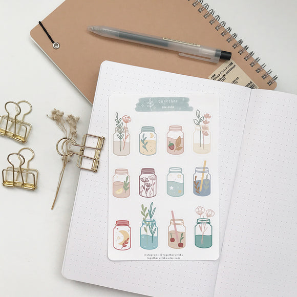 Magical Mason Jars Sticker Sheet