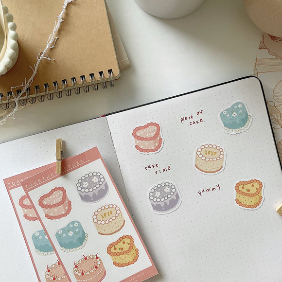 Decorative Cake Mini Sticker Sheet
