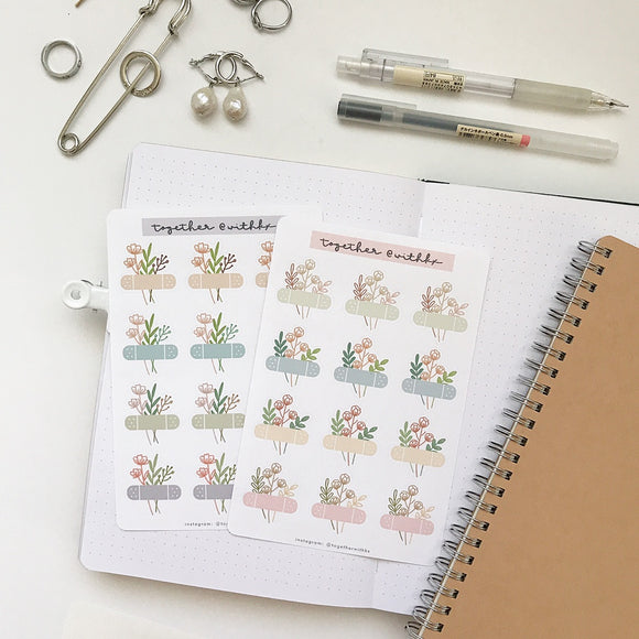 Floral Bandages Sticker Sheet (2 options)