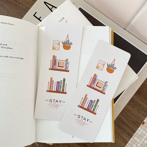 Cozy Bookshelf Bookmark