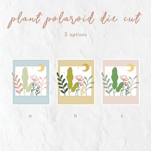 Plant Polaroid Die Cut Sticker