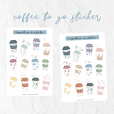 Coffee To Go Sticker Sheet