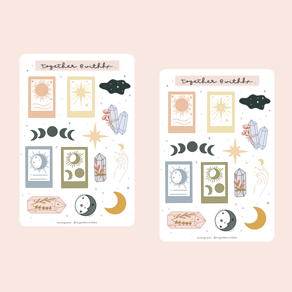 Crystal Celestial Tarot Sticker Sheet