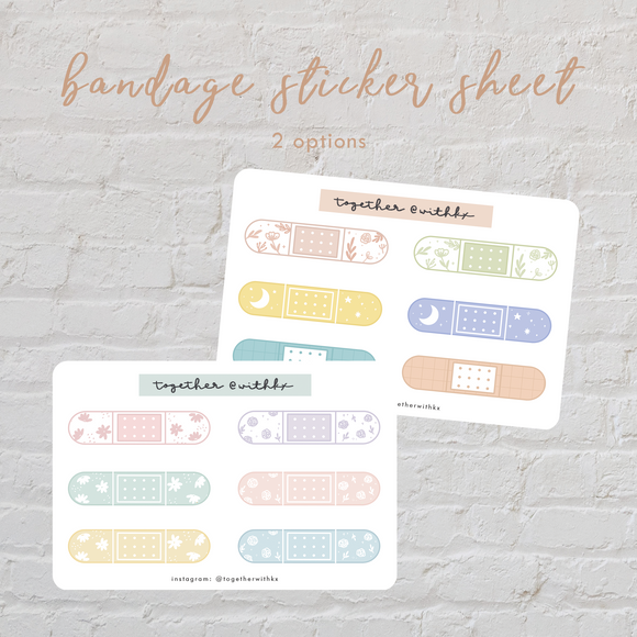 Assorted Bandage Mini Sticker Sheet (2 options)