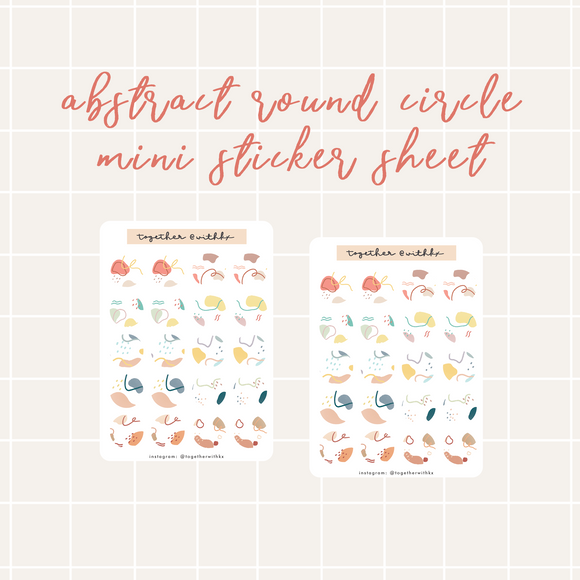 Abstract Round Circle Mini Sticker Sheet