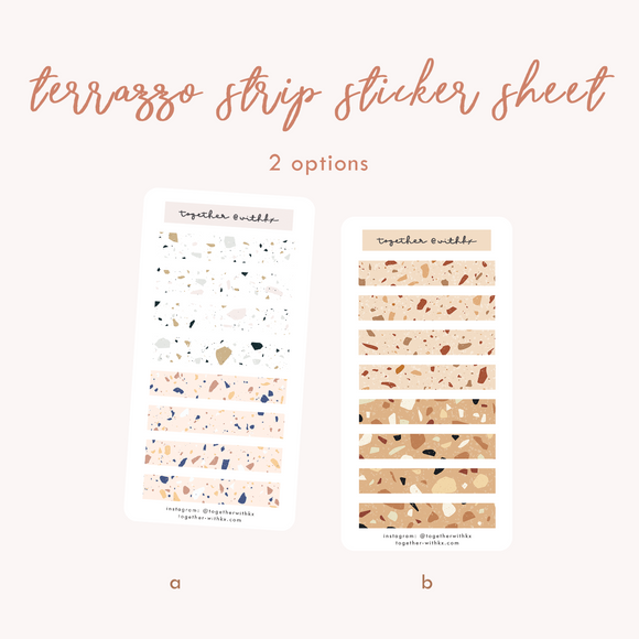 Terrazzo Strip Sticker Sheet