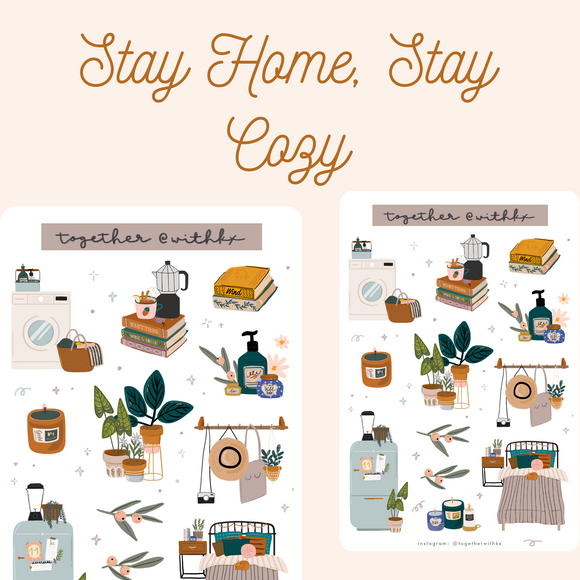 Cozy Home Time Sticker Sheet