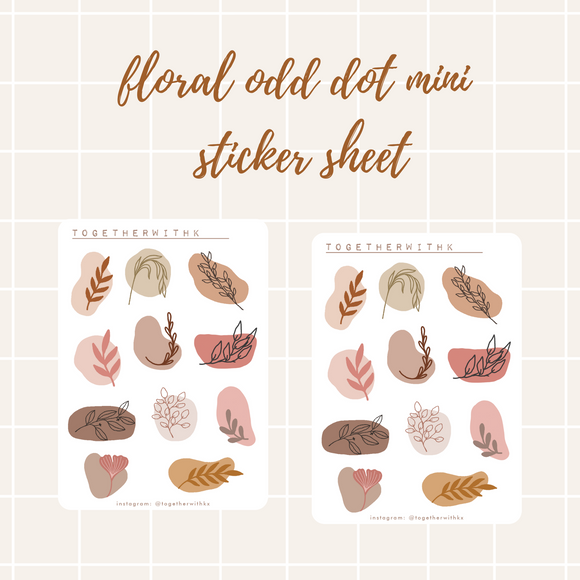 Floral Odd Dot Mini Sticker Sheet