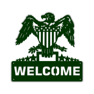 Patriotic Welcome Eagle