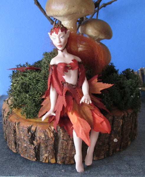 F) lady fairy autumn
