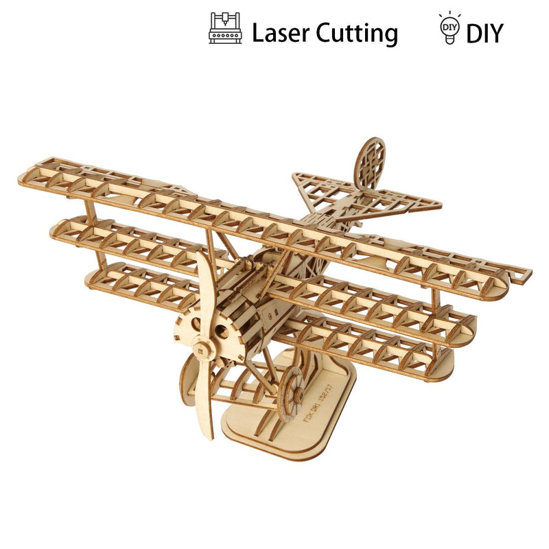 Build Me! 3D Model Airplane Laser Cut Puzzle