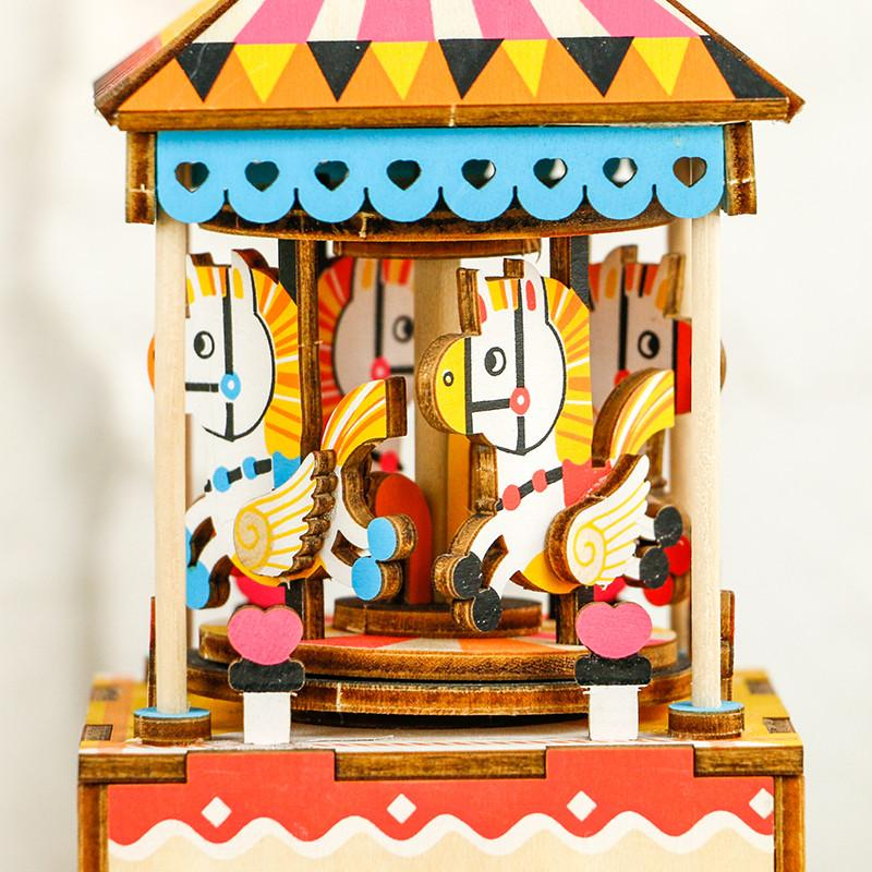 Build Me! 3D Model Musical Merry-Go-Round Puzzle