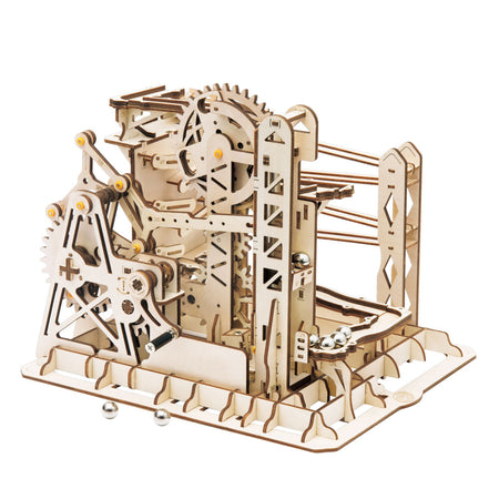 Marble Run Tower Explorer 3D Build it Model with cranks and gears