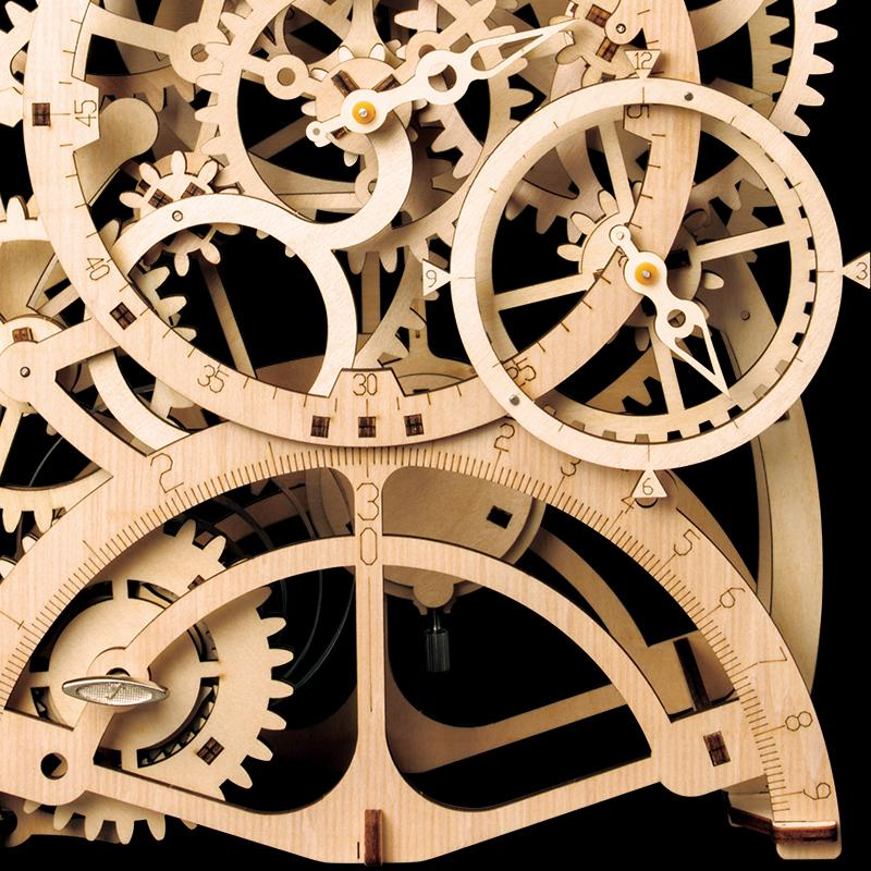 Laser Cut 3D Pendulum Clock Model Puzzle