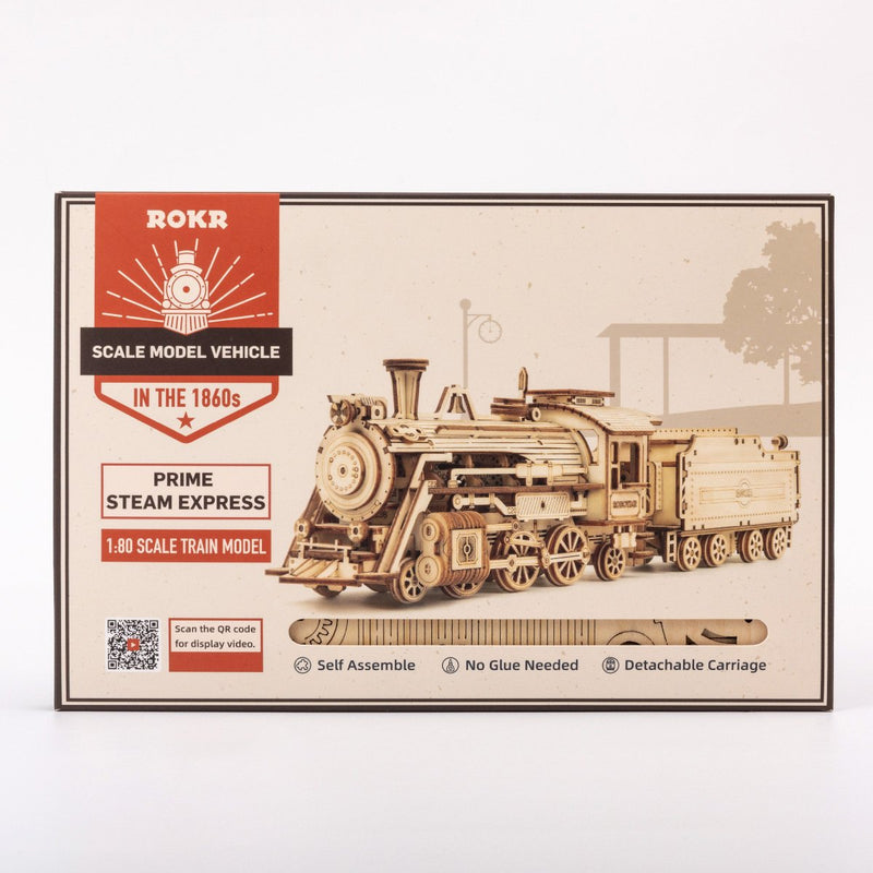 Laser Cut 3D Steam Train Express Model 1/80th scale