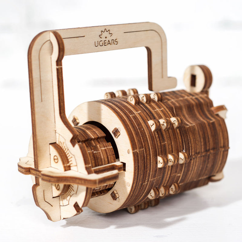 Laser Cut Combination Lock Cryptex - Functional Gear Lock - 3D Kit / Puzzle