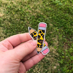 Mini Cheetah Pencils Vinyl Sticker