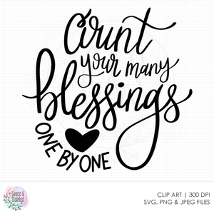 Count Your Blessings SVG File
