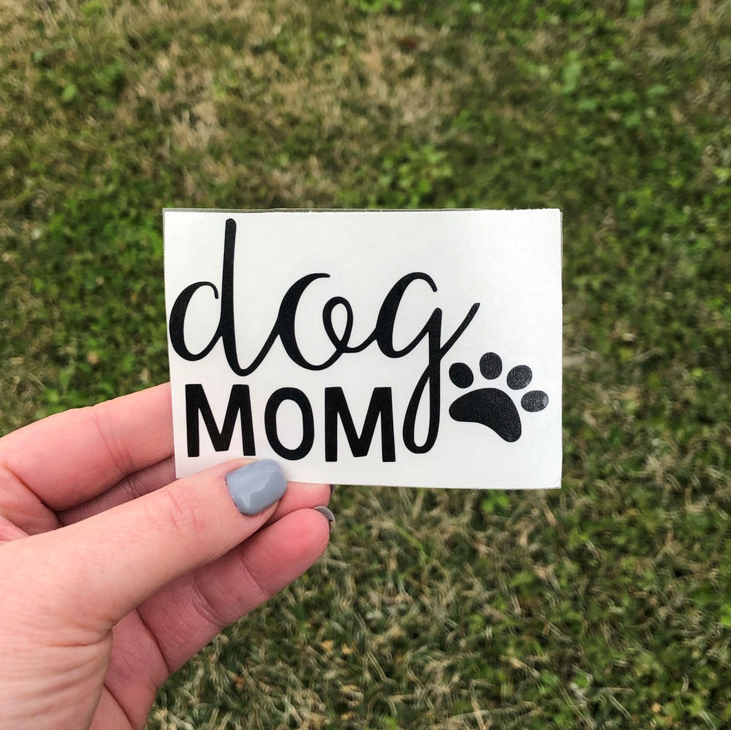 Dog Mom Vinyl Decal