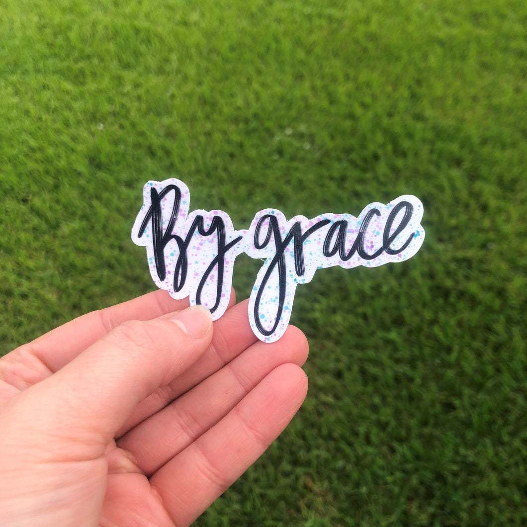 By Grace Vinyl Sticker