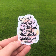 Load image into Gallery viewer, Proverbs 16:3 Vinyl Sticker