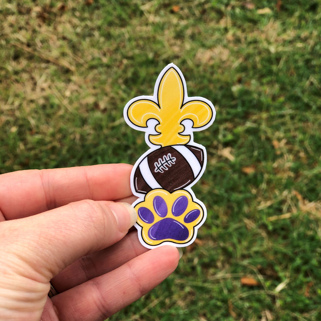 Saints and Tiger Football Vinyl Sticker