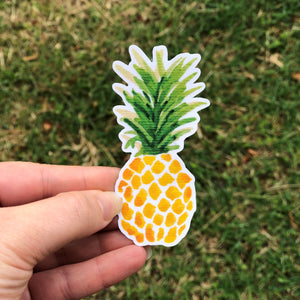 Pineapple Watercolor Vinyl Sticker