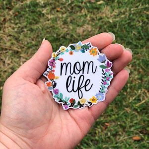Mom Life Vinyl Sticker