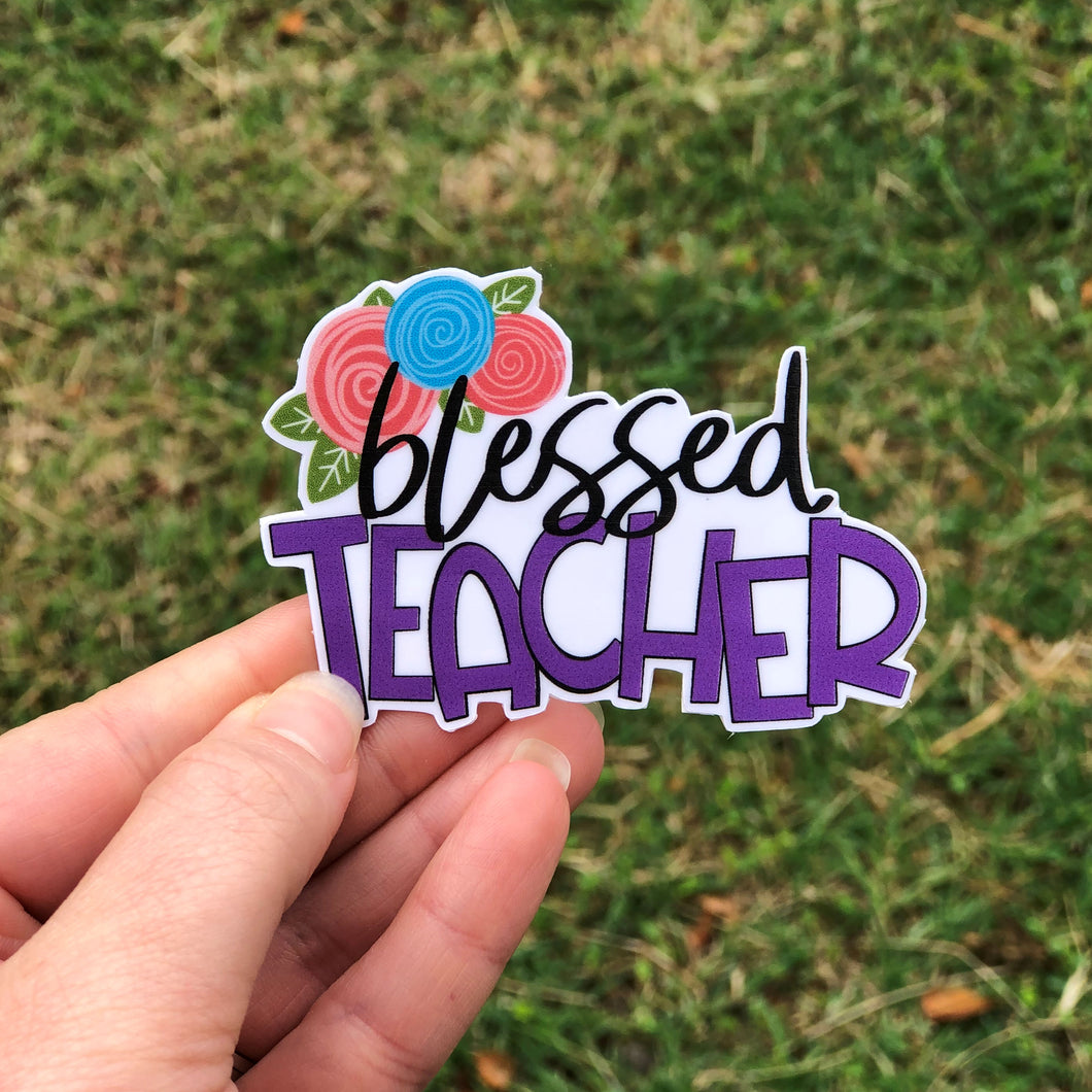 Blessed Teacher Vinyl Sticker