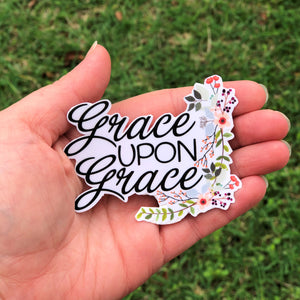 Grace Upon Grace Vinyl Sticker