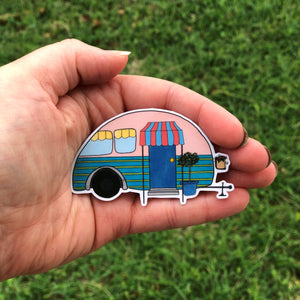 Little RV Camper Vinyl Sticker