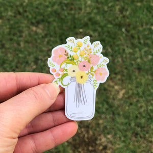 Spring Flowers Bouquet Vinyl Sticker
