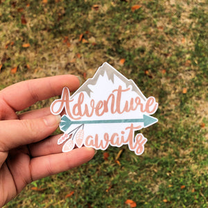 Adventure Begins Here Vinyl Sticker