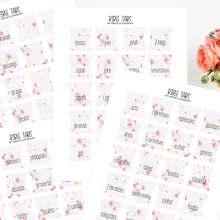 Load image into Gallery viewer, Printable Floral Bible Tabs