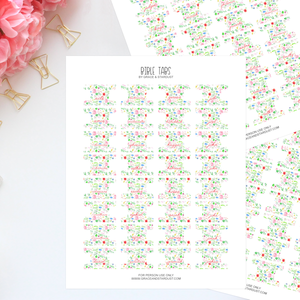 Printable Watercolor Floral Bible Tabs