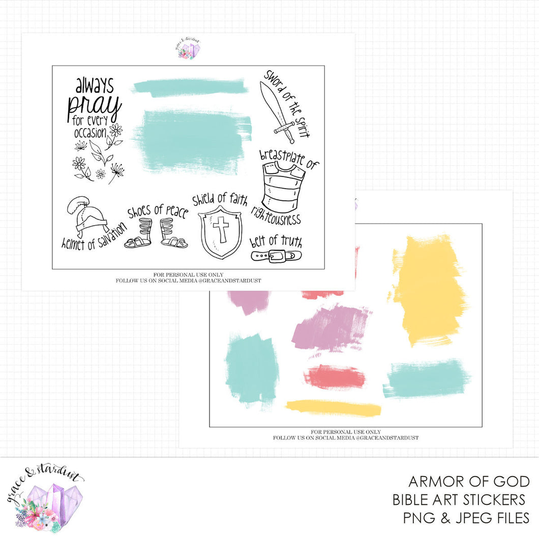 Armor of God Printable Stickers