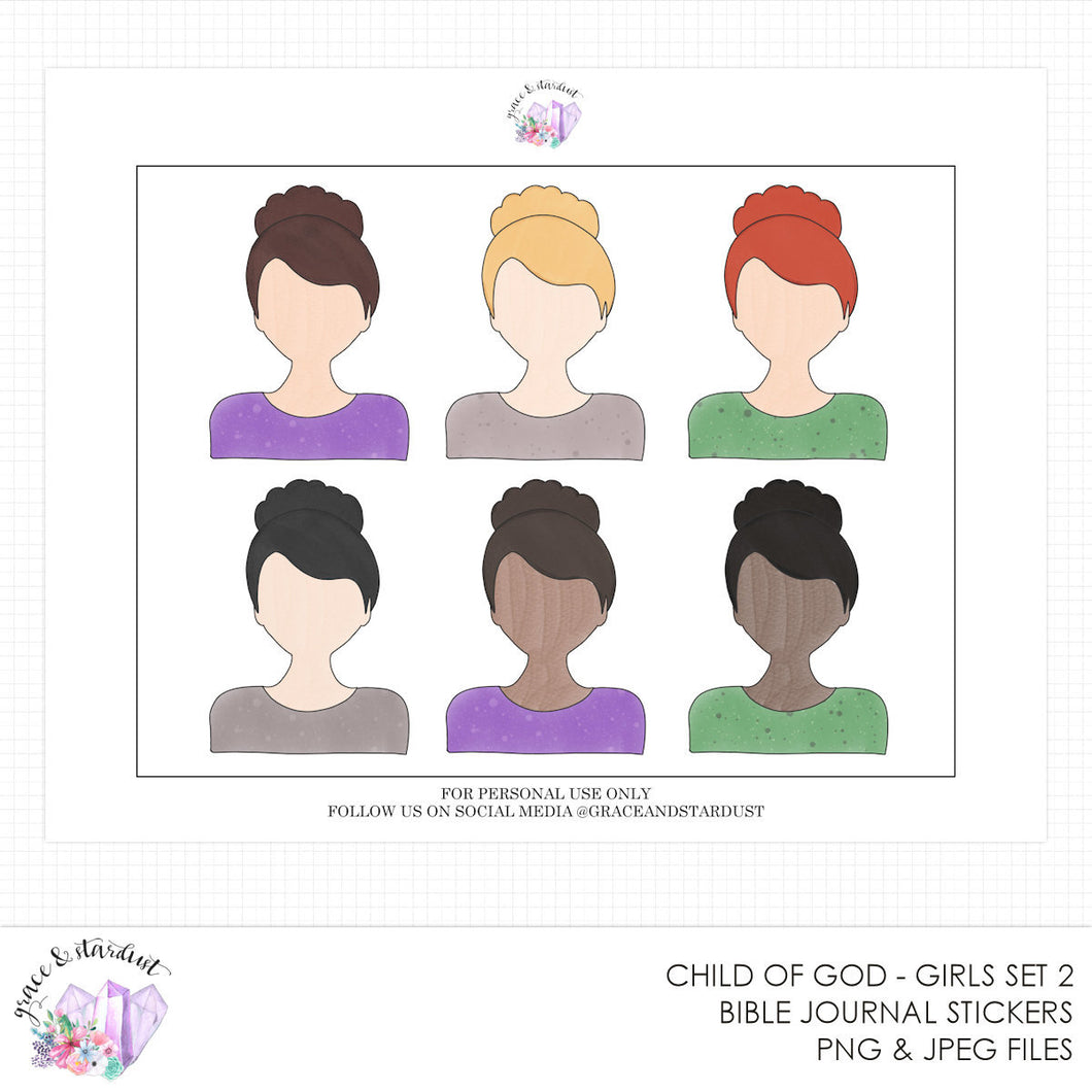 Child of God Set 2 Printable Doll Stickers