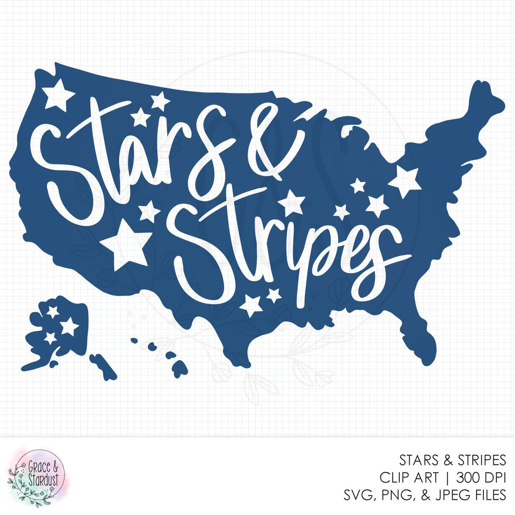 Stars & Stripes SVG File - Cut File - 4th of July - American Pride - PNG File - USA Pride - America - 4th of July - North America - pu cu