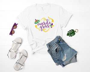 Mardi Gras Girl Sublimation Design