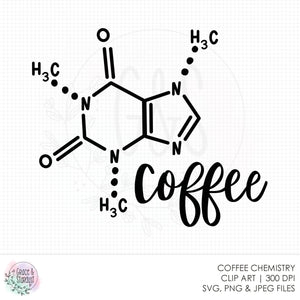 Coffee Chemistry SVG File