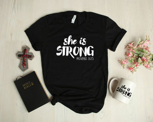 She Is Strong - Proverbs 31:25 - SVG Cut File - Cutting File - Png File - Faith Clipart - Christian Cut File - Sublimation Design