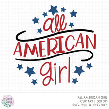 Load image into Gallery viewer, All American Girl SVG File