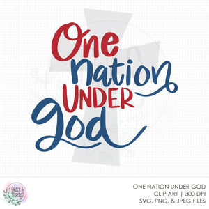 One Nation Under God SVG File