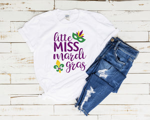 Little Miss Mardi Gras Sublimation Design