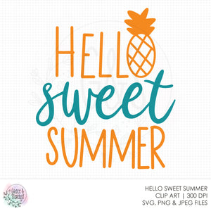 Hello Sweet Summer SVG File