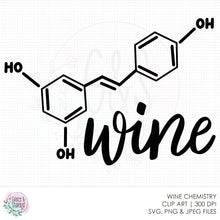 Load image into Gallery viewer, Wine Chemistry SVG File