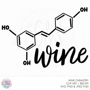 Wine Chemistry SVG File